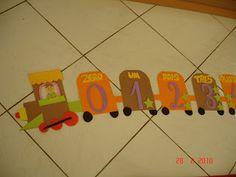 Moldes trenzinho alfabeto e numerais