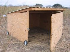I could diy this goat shed. I could use it to rotate it from pasture to garden