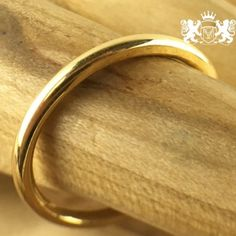 2mm 18K Yellow Gold Bonded over Exotic Stainless Steel Wedding Band