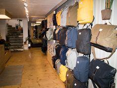 A peek into our Stockholm flagship store #Sandqvist #Stockholm #Sweden #Scandinavia #Bag #Plants