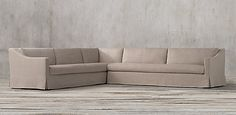 The Petite Belgian Classic Slope Arm Sectionals | Restoration Hardware