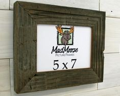 Barn Wood Picture Frame Classic-2 150 custom sizes | Etsy Fine Furniture, Furniture Making, Barn Wood Picture Frames, Change Picture, Thing 1, Weathered Wood, Frame Sizes, Clear Acrylic, Classic