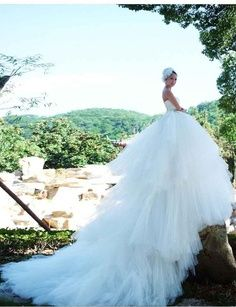 Wow... that's a real white peacock Wedding Dress! Peacock Wedding Dresses, Wedding Dress 2013, Amazing Wedding Dress, Dream Wedding Dresses, Bridal Dresses, Wedding Gowns, Wedding Bride, Wedding Styles, Wedding Photos