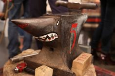 Hey! I've got an anvil, I never thought about painting a face on it before though, neat idea.