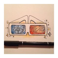 3d glasses of david tennant! my favorite doctor, I love doctor who ❤️✨…