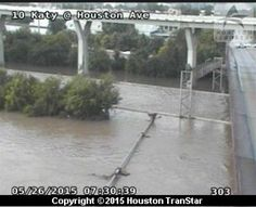 Flooded roads are shown on Houston Transtar camera near the Katy Freeway and Houston Ave. A downpour flooded much of the Houston area on Tuesday, May 26, 2015. Photo: Houston Transtar