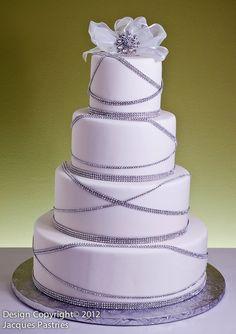 Garland of Jewels Cake by Jacques Fine European Pastries Amazing Wedding Cakes, Elegant Wedding Cakes, Wedding Cake Designs, Wedding Cake Toppers, Amazing Cakes, Cake Wedding, Wedding Gowns, Pretty Cakes, Beautiful Cakes