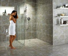 Doorless Shower Design Ideas in Your Home - Home Design Ideas & Resources - eHomeDesignIdeas. Small Luxury Bathrooms, Dream Bathrooms, Luxurious Bathrooms, Amazing Bathrooms, Fully Tiled Bathroom, Downstairs Bathroom, Master Bathroom, Bathroom Gray, Budget Bathroom