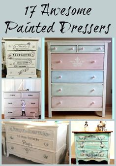 I love these ideas for renovating an old dresser! #shabbychicdressersbrown