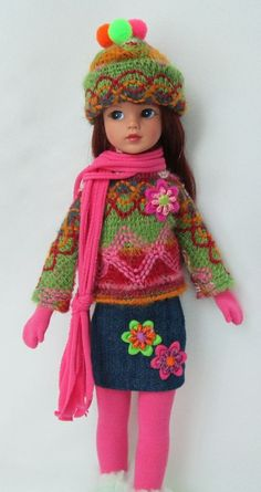 """SINDY'S KNITTY AND WITTY! With BOOTS! FOR TONNER 11"""" SINDY.MADE BY SSDESIGNS"""