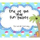 This activity packet is loaded with writing and drawing activities for students to work on as the year winds down.  Students can write and draw abo...