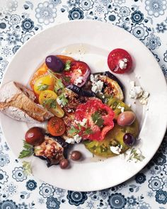 Blistered Eggplant With Tomatoes, Olives, and Feta (v) | Martha Stewart