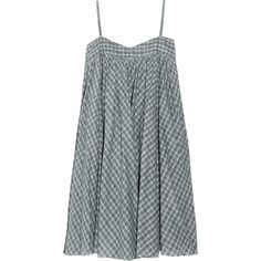 Twenty8Twelve by s.miller Anick checked cotton trapeze dress (1.540 ARS) ❤ liked on Polyvore featuring dresses, checkered dress, cotton summer dresses, twenty8twelve dress, cotton dress and tent dress