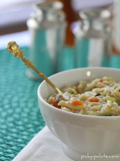 Cheesy Chicken, Bacon and Rice Soup