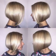 Hair straightening! We love this metallic shiny sheen created by @aliyousha -- and the cut?? #ModernSalon by modernsalon