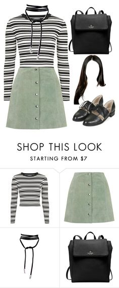 """""""Sans titre #1285"""" by frenchystyle ❤ liked on Polyvore featuring Unique, Topshop and Kate Spade"""