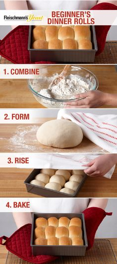Make warm and buttery Dinner Rolls in almost no time following these simple steps. Bake a batch or two to share at your Thanksgiving or Friendsgiving table, then transform these rolls into sliders using holiday meal leftovers and your favorite ingredients.