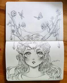 [Horn] . #sketch #drawing #pencil #pencilart #elf  #fairy #horn #cute #pretty #anime #manga #mangaart #animedrawing #art #artwork
