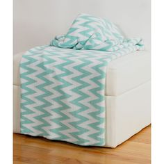 Rizzy Home Chevron Striped Throw