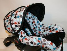 Ready to ship  Argyle infant car seat cover with by BABYCOVERS2010, $70.00