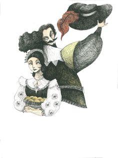 Lucia e Don Rodrigo. Marco Lorenzetti.