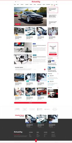 Actuality - Powerful Blog & Magazine PSD Template - PSD Templates