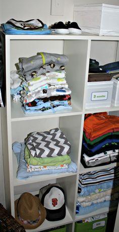 Baby Boy Nursery, closet organization
