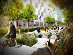 """For as long as there are floods happening in this planet, fresh ideas in green infrastructure will always be relevant. London-based practice Baharash Architecture addresses this problem in """"Water Boulevards."""""""