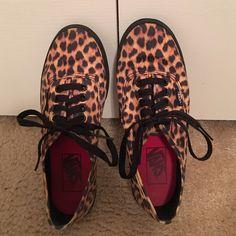 Cheetah print vans Cheetah print vans, only worn twice, a small crease in the toe. Vans Shoes Sneakers