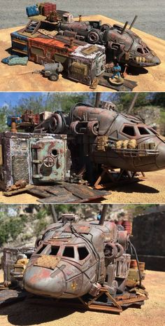 ::this would make excellent terrain in so womanly two games:: Mr J's House - Post Apocalyptic living in style Apocalypse Art, Apocalypse Survival, Apocalypse House, 40k Terrain, Wargaming Terrain, Container Design, Chat Steampunk, Gothic Steampunk, Steampunk Clothing