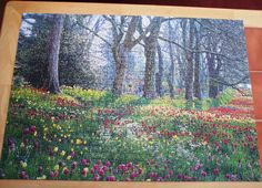 1,000 pieces. Tulip Walk. Feb. 2014. Tulips, Jigsaw Puzzles, Painting, Art, Art Background, Painting Art, Tulip, Paintings, Kunst
