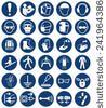 High Quality Standard Mandatory Action Sign Collection Stock-Vektorgrafik - Illustration 241964386 : Shutterstock