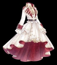 Cosplay Outfits, Anime Outfits, Mode Outfits, Pretty Outfits, Pretty Dresses, Beautiful Dresses, Dress Design Sketches, Fashion Design Drawings, Old Fashion Dresses