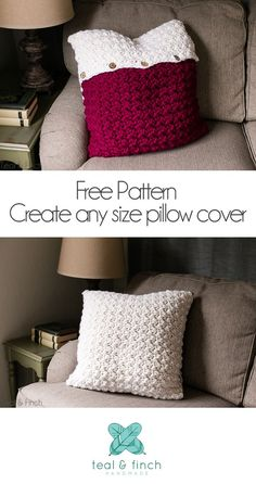 free crochet pattern, crochet pillow cover, super bulky yarn, Knit Picks Tuff Puff, pillow cover pattern, unusual crochet stitches, diy home decor