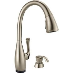 Delta Dominic Single-Handle Pull-Down Sprayer Kitchen Faucet with Touch2O Technology in SpotShield Stainless-19940T-SPSD-DST - The Home Depot