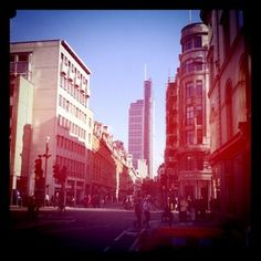 When I walk down this street I feel like I'm back in New York, yet it's the heart of London