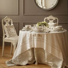 Lion-Embroidery Tablecloth and Napkin | ZARA HOME United States of America