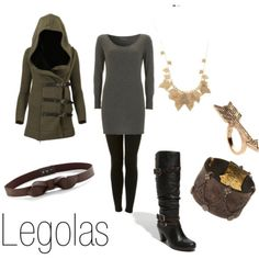 Legolas from Lord of the Rings. I adore this outfit.    Aside from the ring, I would totally wear this...I LOVE the jacket...