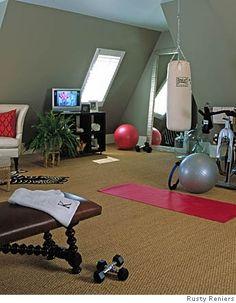 Super Home Gym Interior Punching Bag Ideas Workout Room Home, Gym Room At Home, Home Gym Decor, Workout Rooms, At Home Workouts, House Workout, Basement Gym, Garage Gym, Home Gym Design