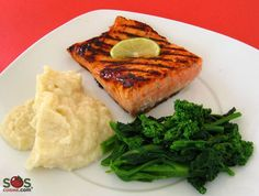 Grilled Salmon with Honey [G.F.]