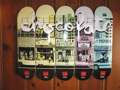 Chocolate skateboard deck series by Evan Hecox