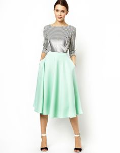 Full Midi Skirt in Scuba
