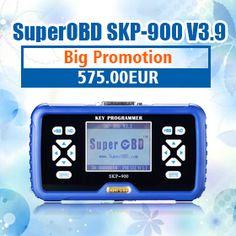 SuperOBD SKP-900 V3.9 Handheld Key Programmer Update Online No Tokens Limitation