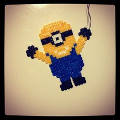 Minion perler beads by evelynsolsen
