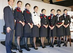 JAL, Japan Airlines cabin crew uniforms