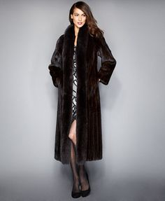 95f08dbb The Fur Vault Fox-Trimmed Mink Maxi Coat & Reviews - The Fur Vault - Women  - Macy's