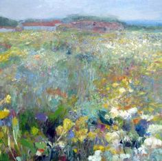 Across the meadow, Norfolk by C Layzell