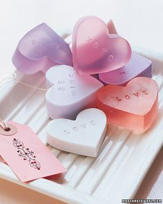 Make your own heart-shaped soap - great gift idea