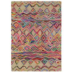 Brink & Campman Ibiza Costa Rug - 67600 - 200x280cm ($890) ❤ liked on Polyvore featuring home, rugs, multi, low pile rug, harlequin rugs, diamond pattern rug, striped area rugs and diamond rug