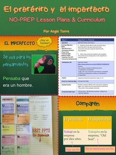Everything you need to teach the Spanish Imperfect Preterite!  Sixteen 90-minute No-Prep Lesson Plan; Imperfecto pretérito PowerPoint (96 slides); homework; PPT Homework Answers; games; illustrated TPR Story PowerPoints; TPR Stories and activities, Pre-AP Activities; Interactive Notebook Activities; Tests; quizzes; paired & group activities; rubrics; Everything needed for each day's lesson is in a folder
